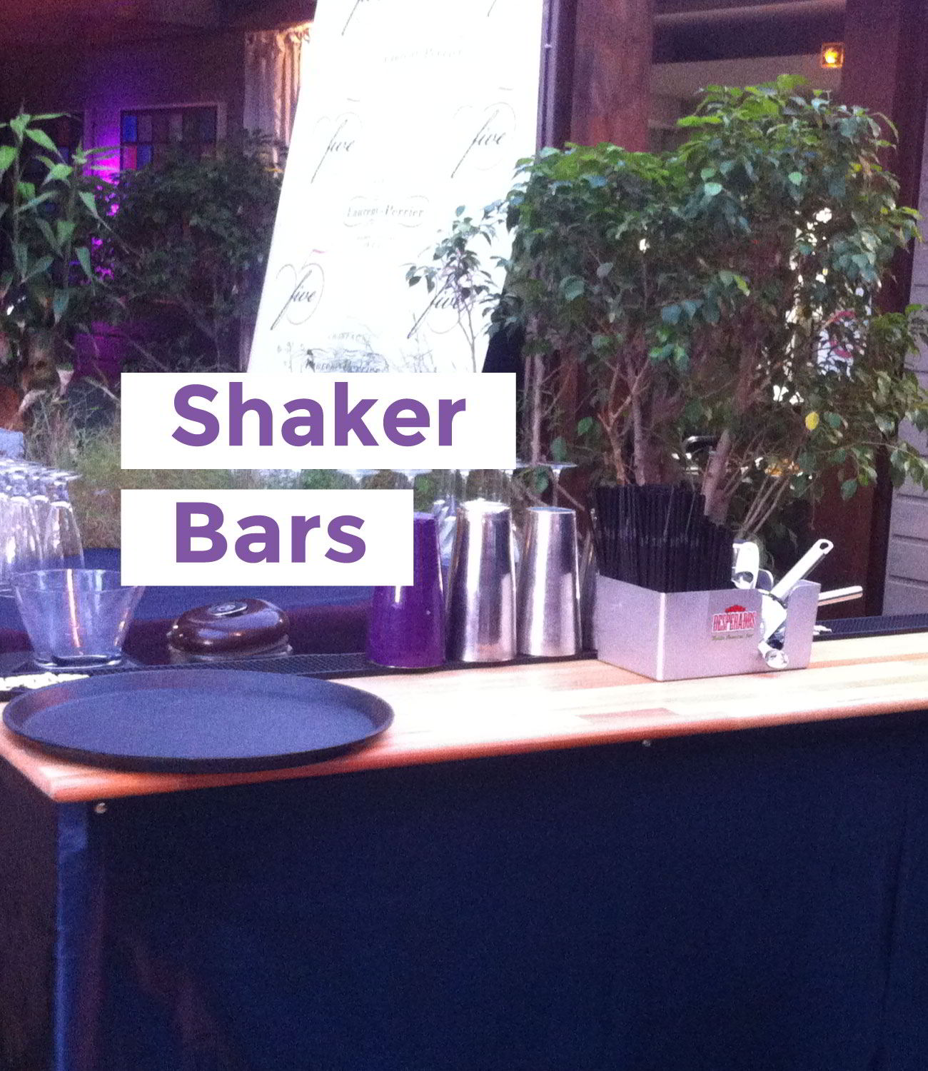 Un des shakers bars